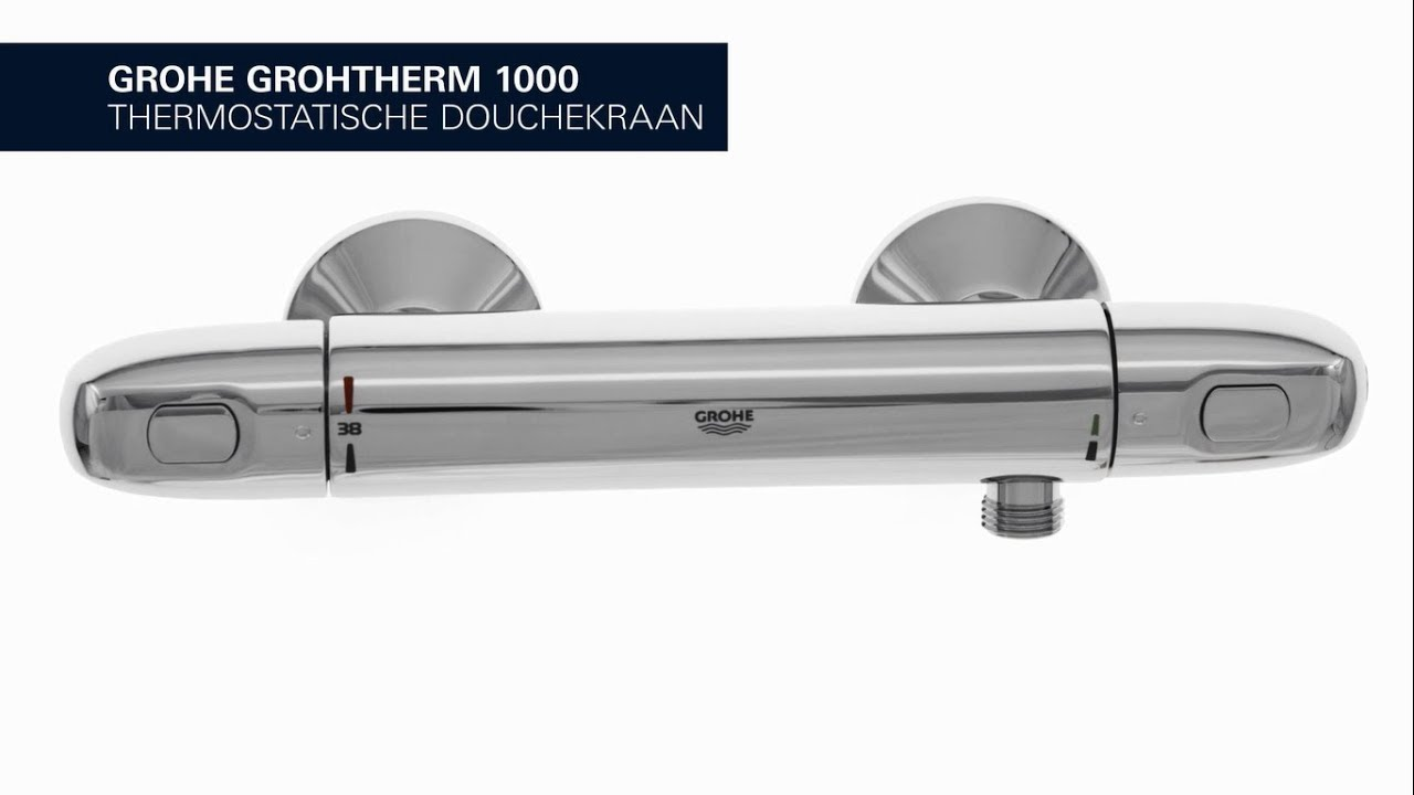 Grohe Grohtherm 1000 New.Grohe Grohtherm 1000 New De Comfortabele Douchekraan Met Grohe Cooltouch Technologie