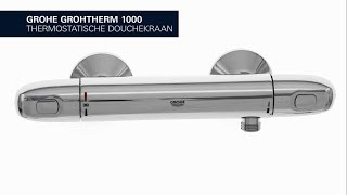 GROHE Grohtherm 1000 New – de comfortabele douchekraan met GROHE CoolTouch technologie