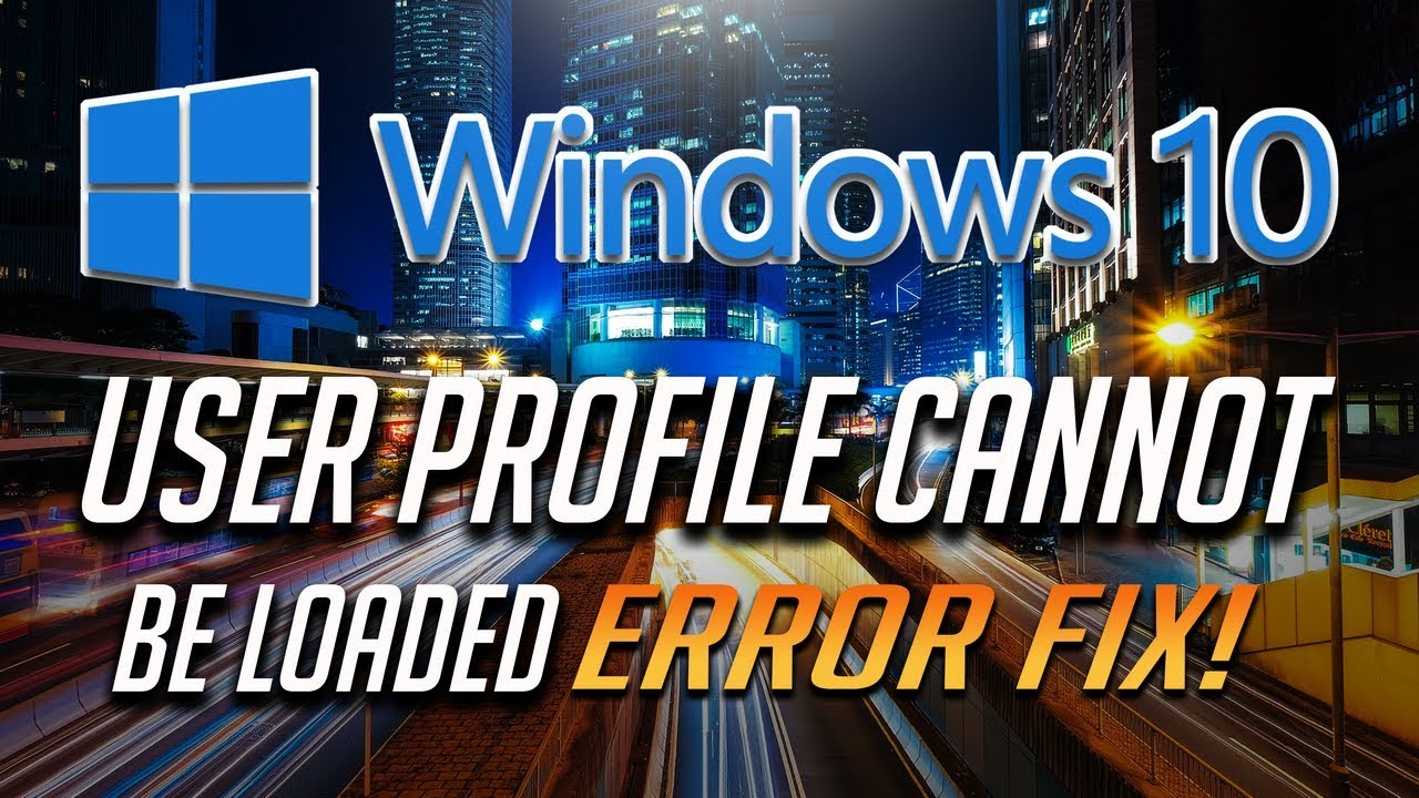 windows 7 user profile failed to load