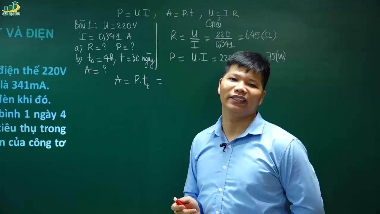 Vật Lí lớp 9- Bài 14 Bài tập về công suất và điện năng sử dụng | Thầy Trần Văn Huỳnh