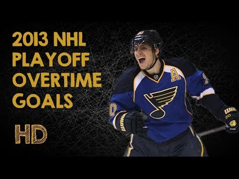 2013 NHL Playoff Overtime Goals [HD]