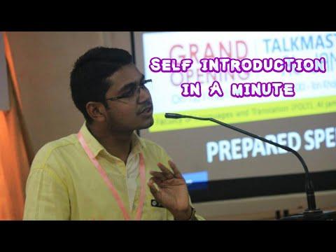 ഒരു മിനുട്ടിൽ ഒരു സെൽഫ് ഇൻട്രൊഡക്ഷൻ. One Minute Self Introduction in English by Mansoor Ali,