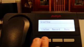 Avaya IP office record your greeting using visual voicemail