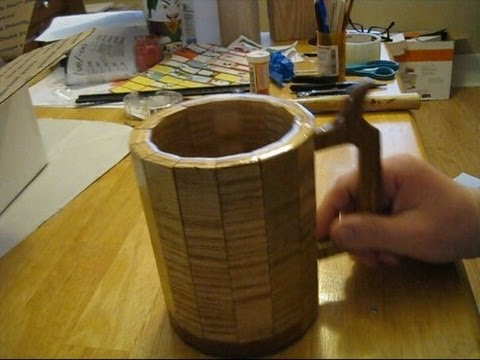 Usable wood beer mug