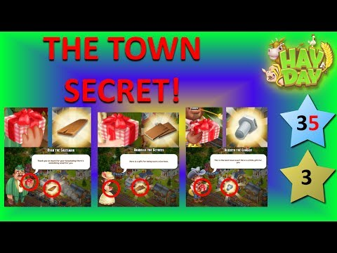 HAY DAY - TOWN SECRET! DO YOU KNOW IT? TOWN VISITORS! TOWN SUPPLIES! TOWN GIFTS! TOWN TRAIN!