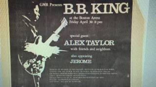 Rare BB King radio promo for 1971 Boston Arena concert - WBCN Radio