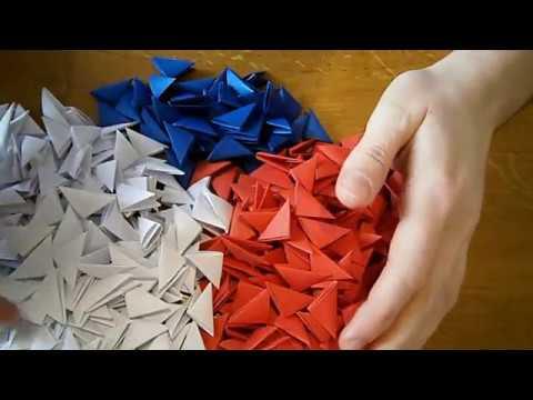 Модульное Оригами. Сердечки из оригами модулей. На день Святого Валентина