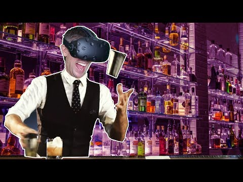 GOING TO VIRTUAL BARTENDER SCHOOL IN VR!? - Bartender VR Simulator HTC VIVE Early Access Gameplay