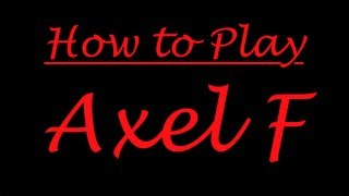 How To Play Axel F On Piano/Synth!