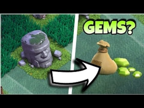 WHAT HAPPENS WHEN YOU REMOVE THE OLD BARBARIAN STATUE IN CLASH OF CLANS