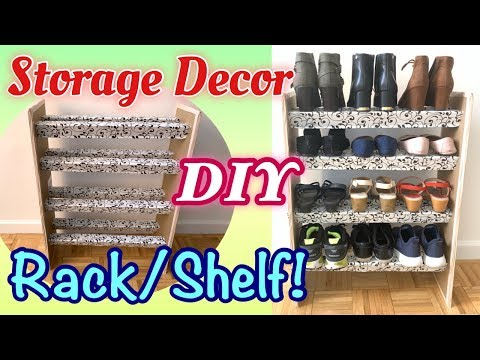 DIY SHOE RACK / SHELF | Cardboard Storage | Easy Tutorial