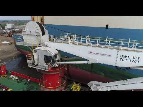 NOV 120 Tons - AHC offshore crane.