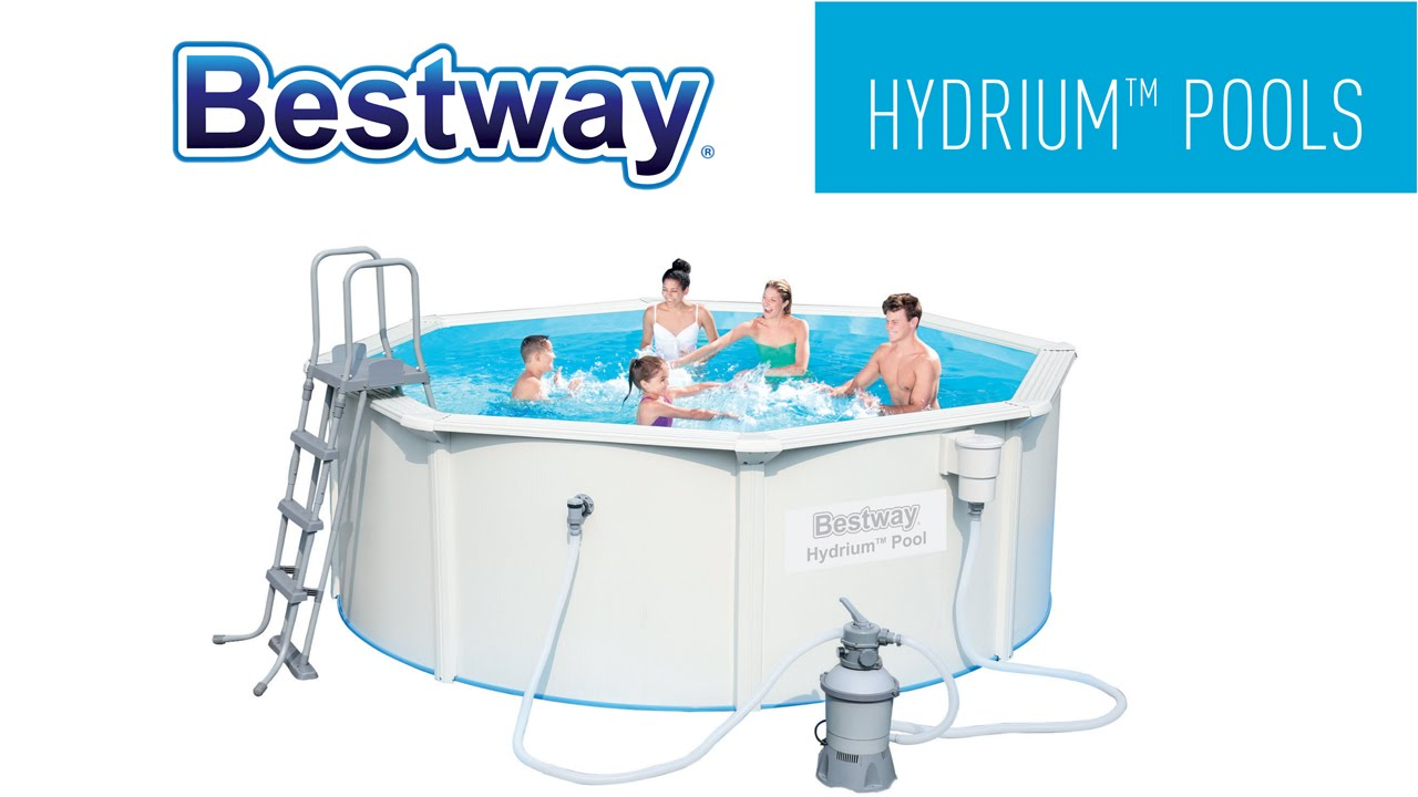 Pool Filteranlage Set Bestway Round Hydrium Steel Wall Pools Setup Video