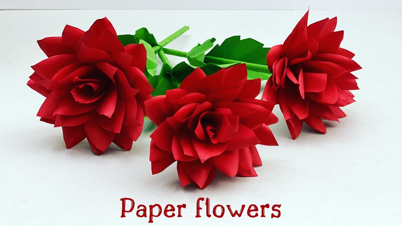 How To Make Easy And Beautiful PAPER FLOWERS / DIY PAPER FLOWER / Paper Craft / Paper Crafts Easy