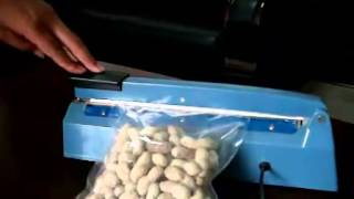Hand Pressing Impulse Sealing machine With Side Cutter For Plastic Film Bag