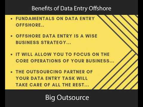 Benefits of Data Entry Offshore| Tips of Data Entry Offshore