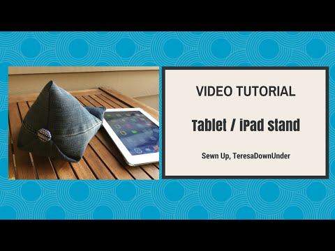 iPad stand tutorial - YouTube
