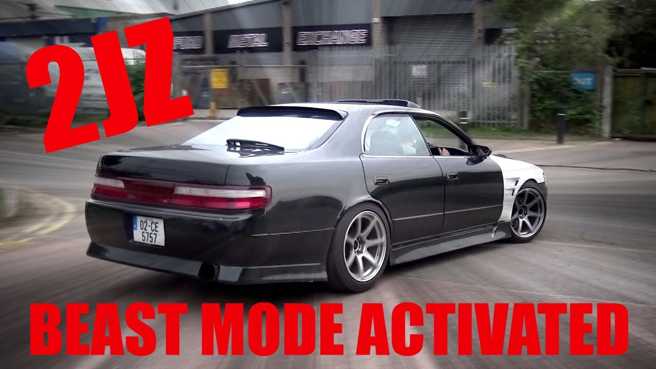 🐒 BEAST MODE ACTIVATED TOYOTA CHASER JZX90 2JZ DRIFT CAR   YouTube