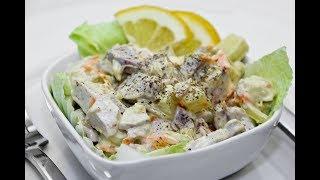 Салат с молоками   лососевых рыб