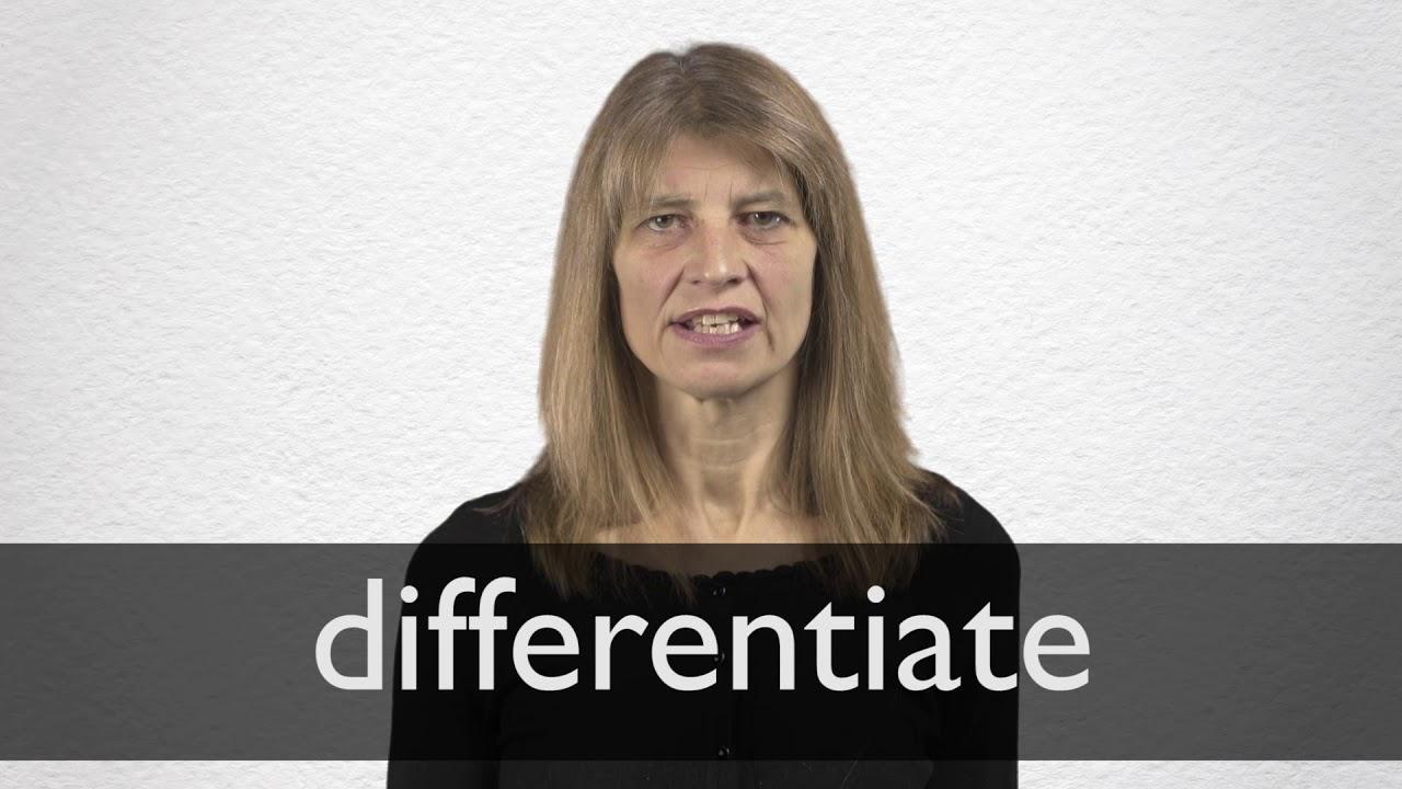 Differentiate Definition und Bedeutung  Collins Wörterbuch