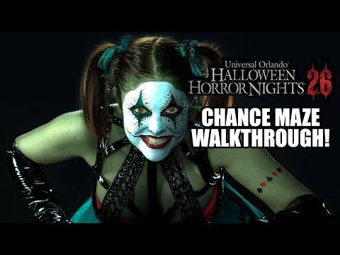 Lunatics Playground Chance Haunted House Walkthrough Halloween Horror Nights Universal Orlando HHN26