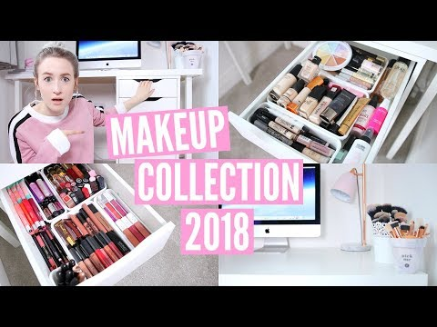 MAKEUP COLLECTION & STORAGE 2018 | Sophie Louise
