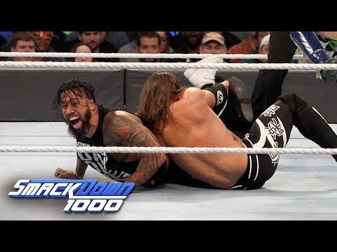 HINDI - AJ Styles & Daniel Bryan vs. The Usos: SmackDown 1000, 16 October, 2018
