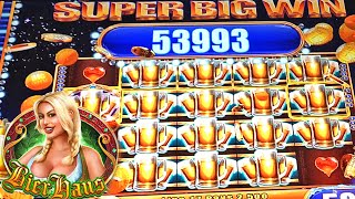 SUPER BIG WIN | BIER HAUS SLOT MACHINE BONUS | Wms Slots