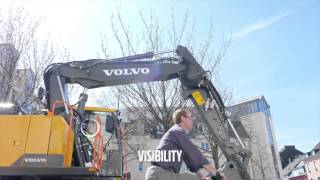 Volvo E-series wheeled excavators: class-leading short swing