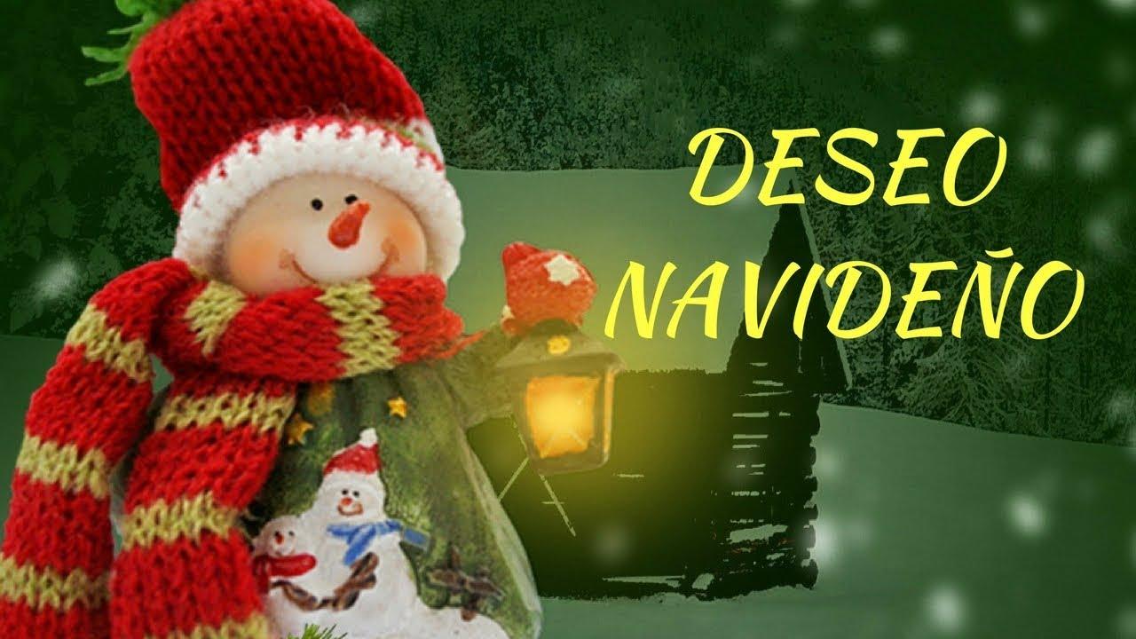 Feliz Navidad Deseo Navideño Nieve Youtube