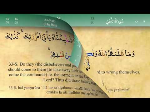 016 Surah An Nahl with Tajweed by Mishary Al Afasy (iRecite)