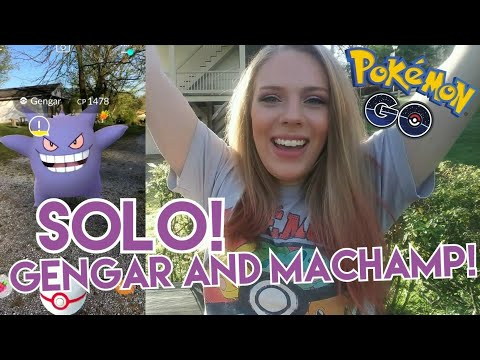 SOLO LEVEL 3 RAIDS IN POKEMON GO! How To Solo Gengar and Machamp Raid Bosses!