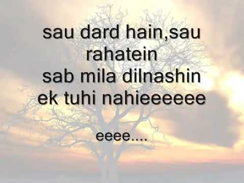 Sau dard hai romantic sad song by sonu nigam with lyrics