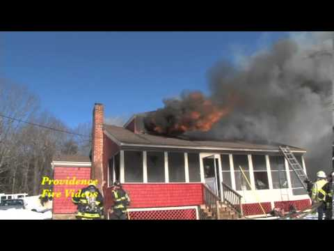 Fire consumes home in North Smithfield, RI but dog is rescued!