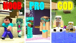 Minecraft Battle: Noob vs Pro vs God: HELP GIRLS Challenge in Minecraft animation