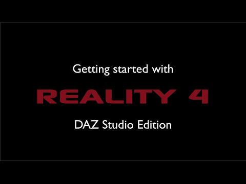 Getting started with Reality 4 - Studio Edition