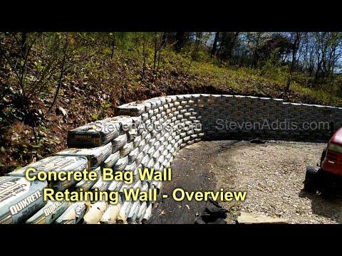 Concrete Bag Retaining Wall   Part 1