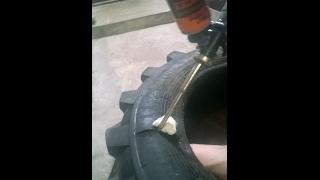 Как быстро и качественно заделать боковой порез шин(В видео детально показан ремонт грузовых шин. Извиняюсь за плохое освещение., 2017-02-09T09:10:26.000Z)