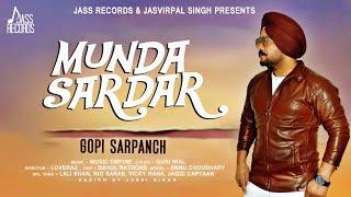 Gambar cover Munda Sardar | ( Full HD) | Gopi Sarpanch | New Punjabi Songs 2019 | Latest Punjabi Songs