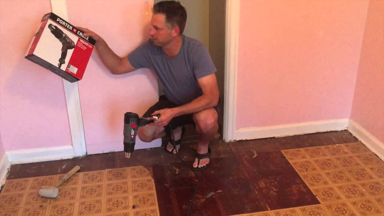 Best Way To Remove Sticky Floor Tiles Youtube