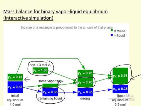 Mass Balance for Binary VLE (Interactive Simulation)