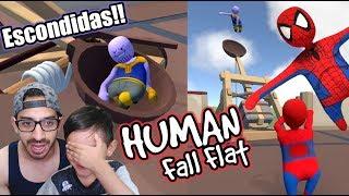 Escondidas en Mundo de Plastilina   Hide and Seek Human Fall Flat   Juegos Karim Juega