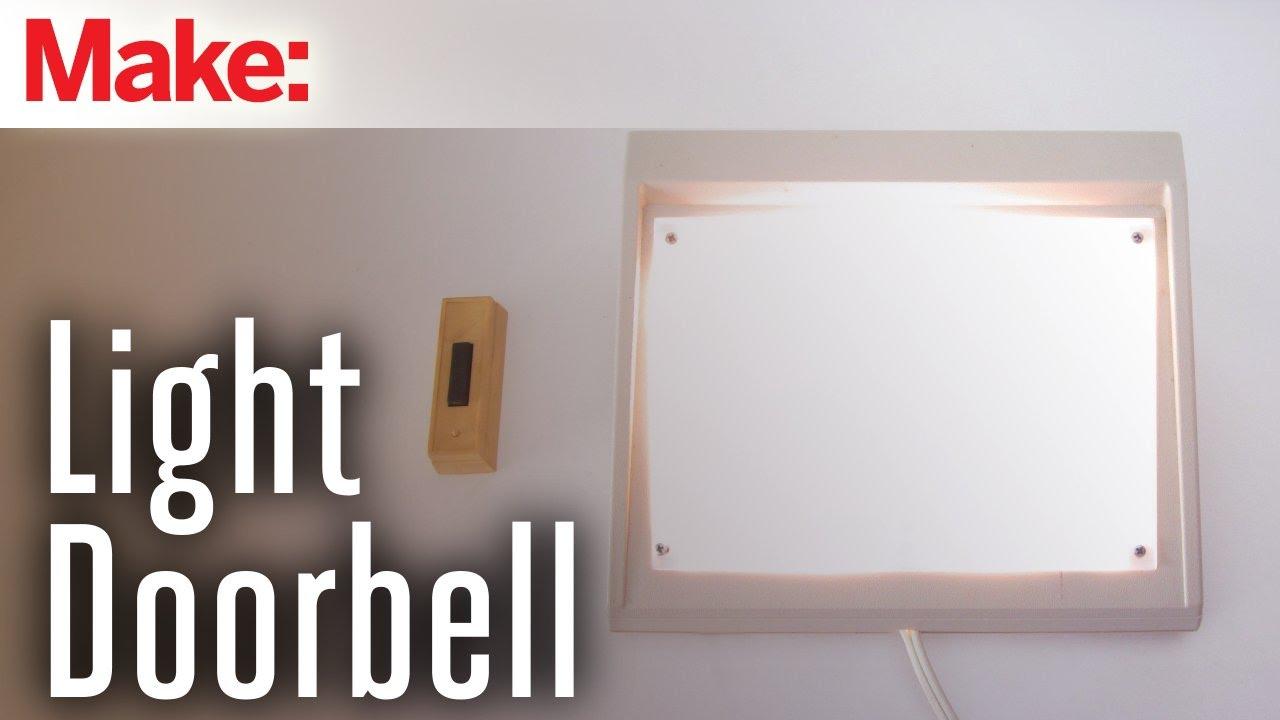 medium resolution of how to make a flashing light doorbell