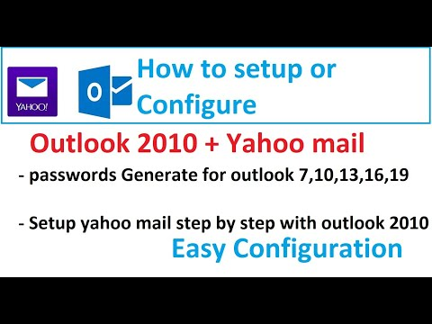 How to configure  yahoo mail in outlook 2010 | yahoo mail settings for outlook 2010