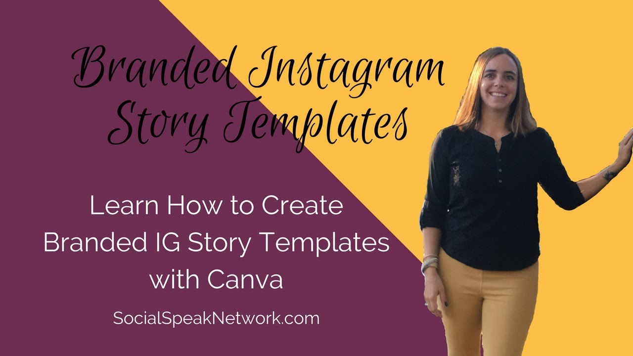 how to use canva to create branded ig story templates youtube. Black Bedroom Furniture Sets. Home Design Ideas