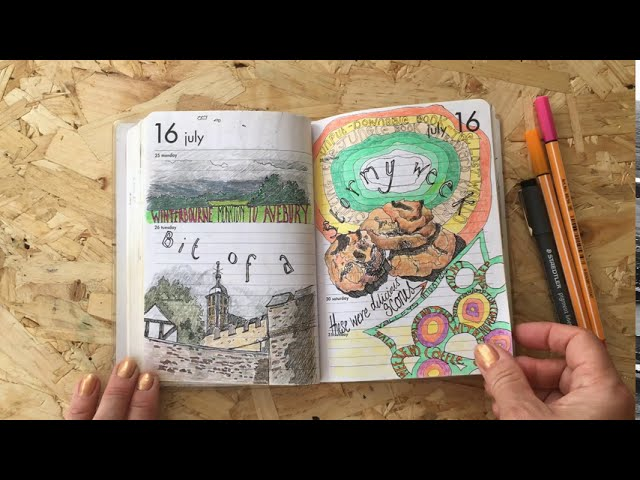 Drawing Diary 2016 Flip Through