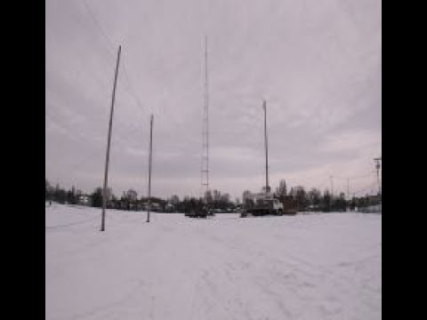 100-year-old Illinois radio tower falls to the ground