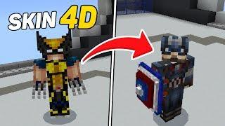 SAIU!! SKIN 4D DO CAPITÃO AMÉRICA COM ESCUDO ! (Minecraft Pocket Edition)