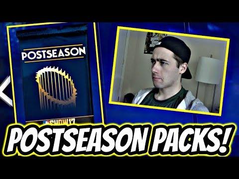 60,000 STUB PACK OPENING!! POSTSEASON PACKS! MLB THE SHOW 17 DIAMOND DYNASTY