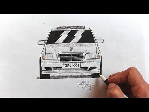 ✌️ Как нарисовать машину Мерседес-Бенц В 202